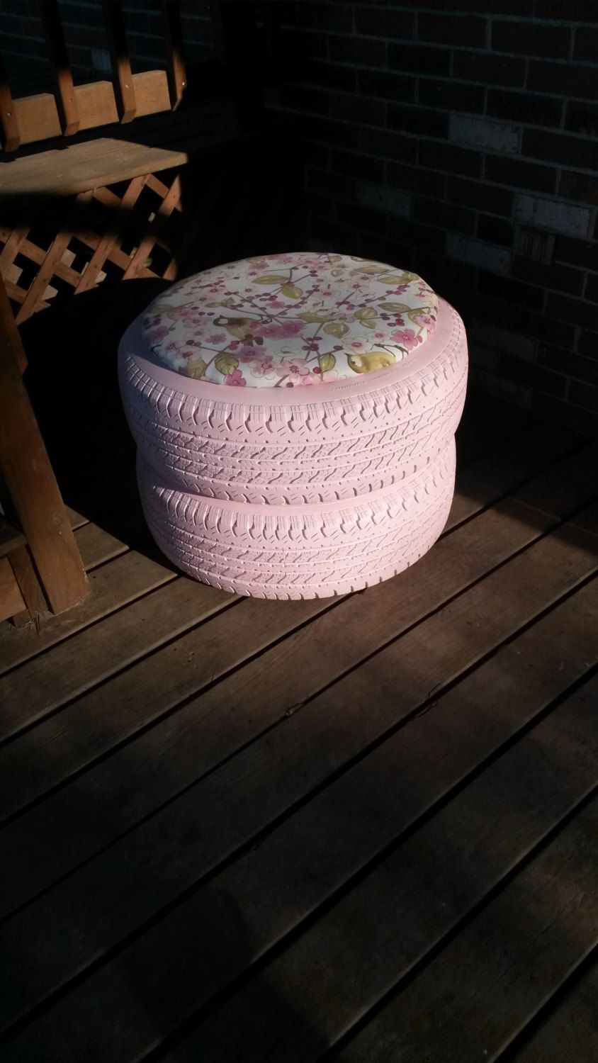 Pink Upcycled Patio Tire Chair | Pinterest | Tire chairs ...