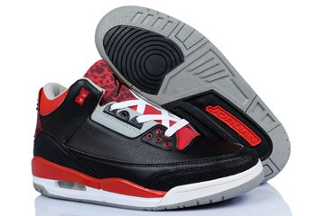 Jordan 3 Retro Bandit Edition Black Red White Shoes