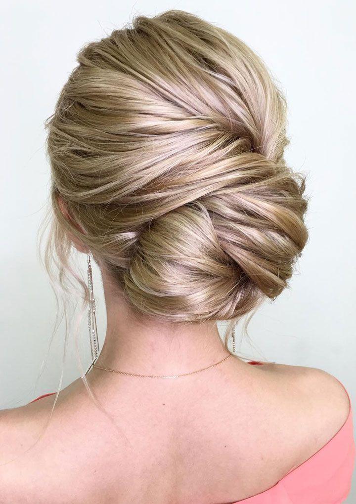 penteado cabelo loiro penteado tipo coque baixo lado penteados