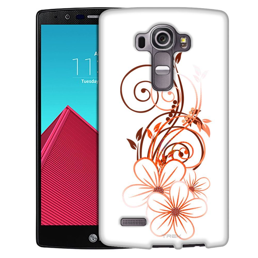 LG G4 Sketch of a Flower Orange on White Slim Case