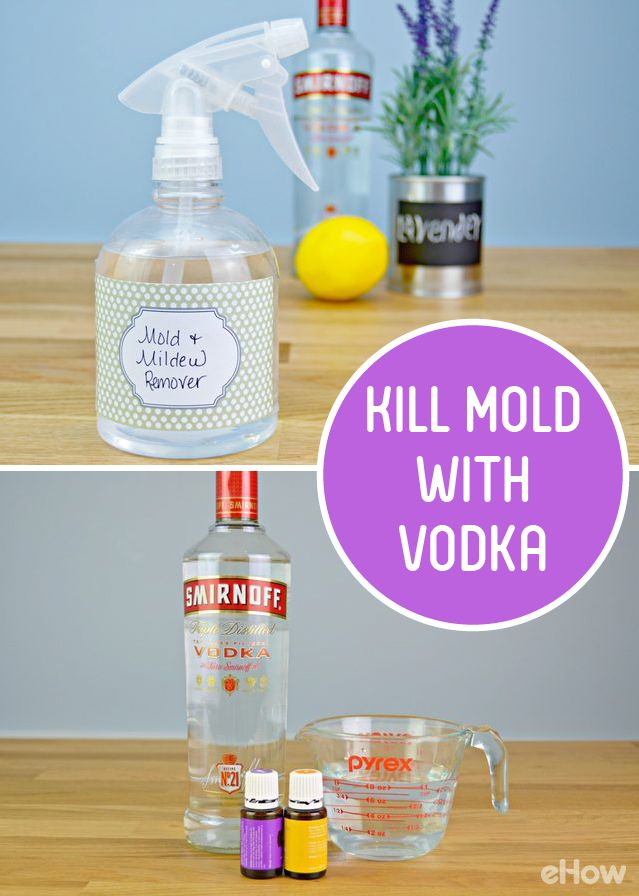 You Can Kill Mold With Vodka Bought Cleaners Come Harsh Chemicals And