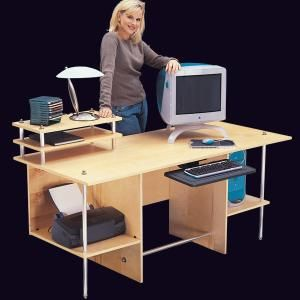 Simple Modern Computer Desk Desk Basic Carpentry Tools Diy Desk