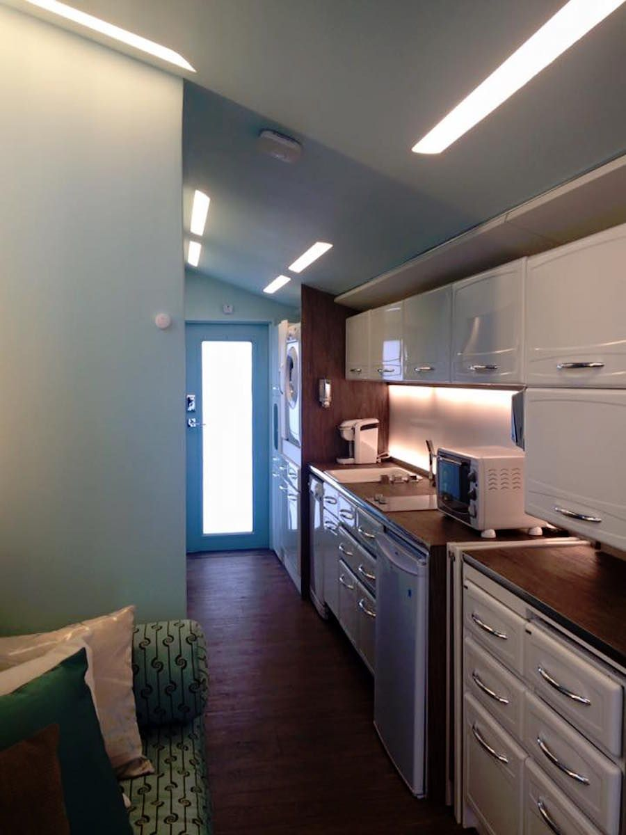The Lil\' Lodge, designed by Tracey Powell. A high-tech tiny house on ...