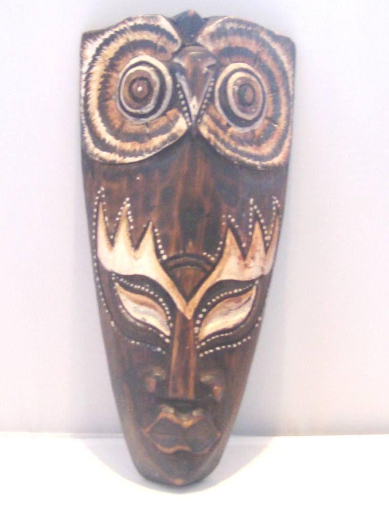 African Mask Tiki Mask Tribal Bali Wall Decor Art Mask 8 ...