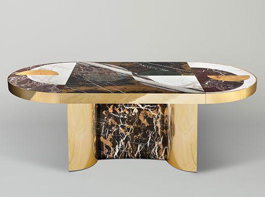 Half Moon Dining Table By Lara Bohinc For Lapicida Dining Table