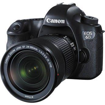 Canon Eos 6d Dslr Camera With 24 105mm F 3 5 5 6 Stm Lens Canon Digital Camera Camera Comparison Canon Eos