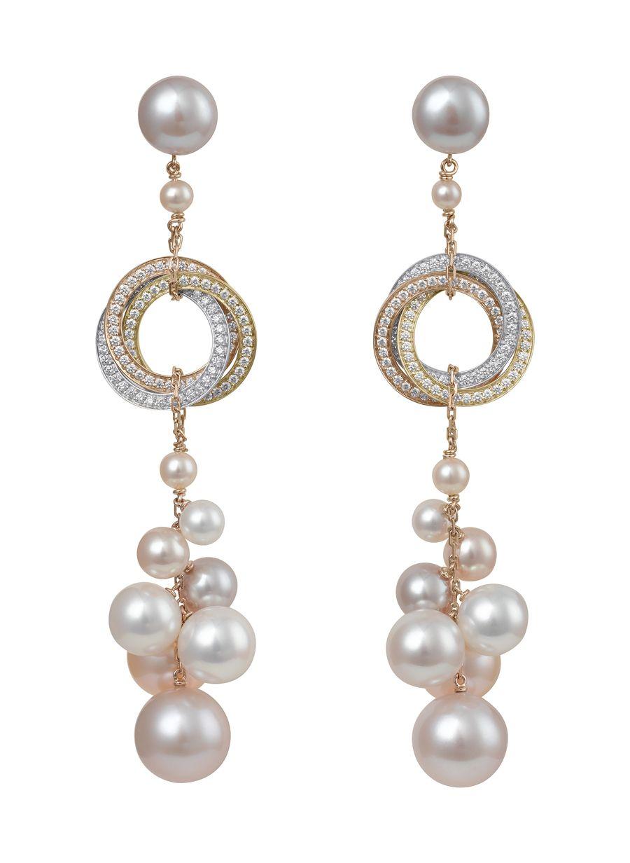 Trinity De Cartier S Habille Perles Bagues Trois Ors Avec