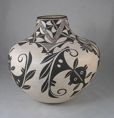 """8x10 In /""""Pueblo Pottery/"""" Pueblo Indian Art Print Print"""