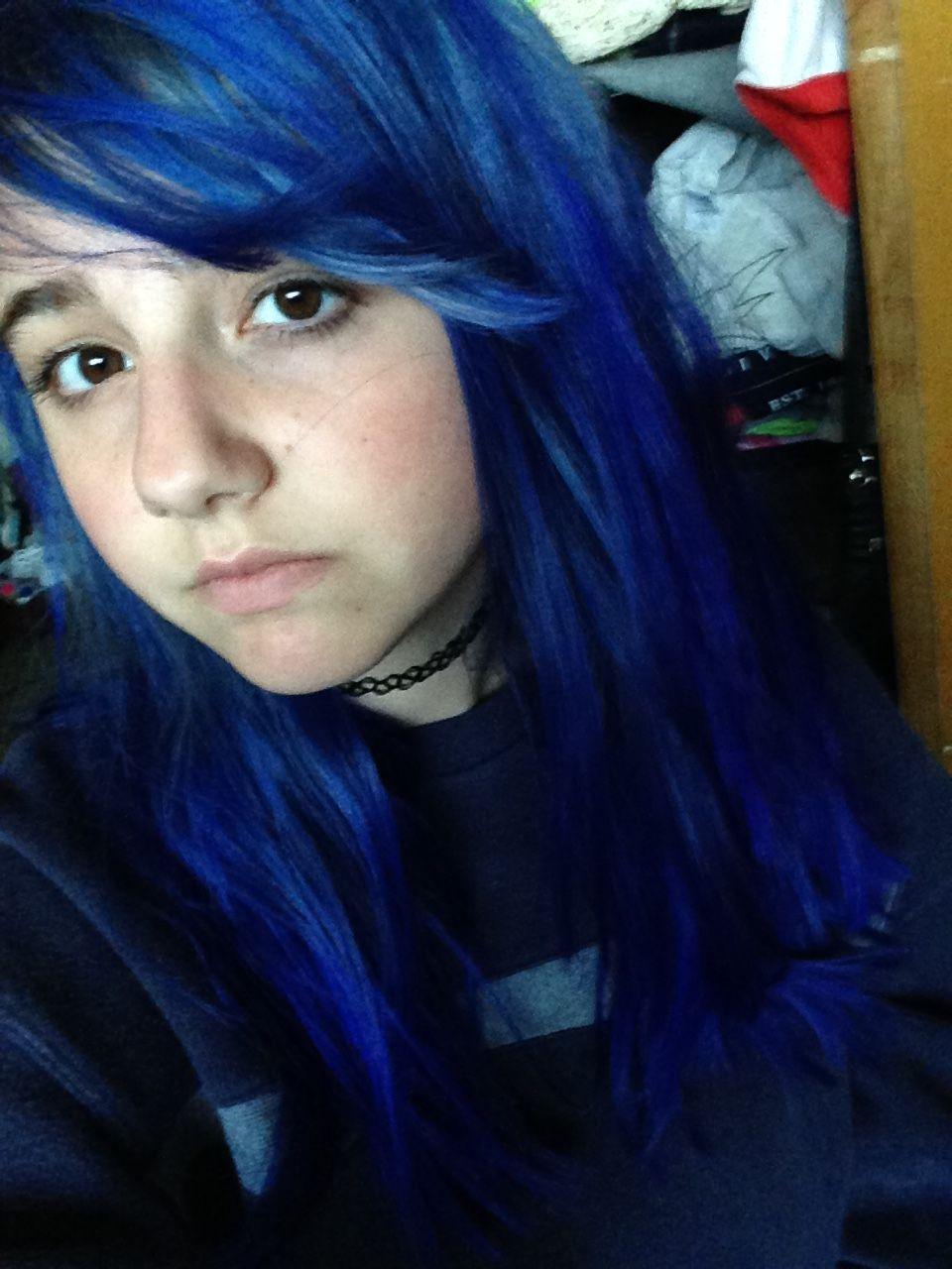 Splat Blue Envy Youtube Sarah Noelle Miller Splat Hair Color My Hair Hair Color