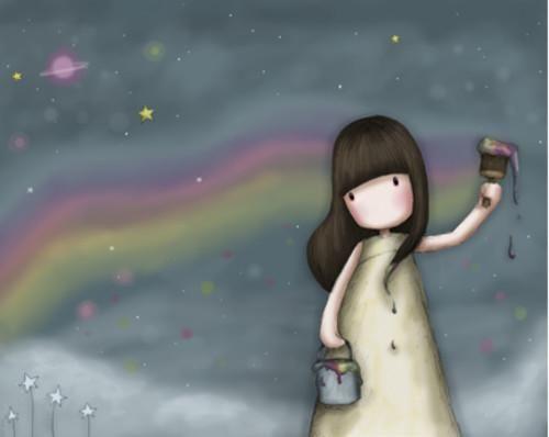 Sometimes Rainbows Fade by Gorjuss