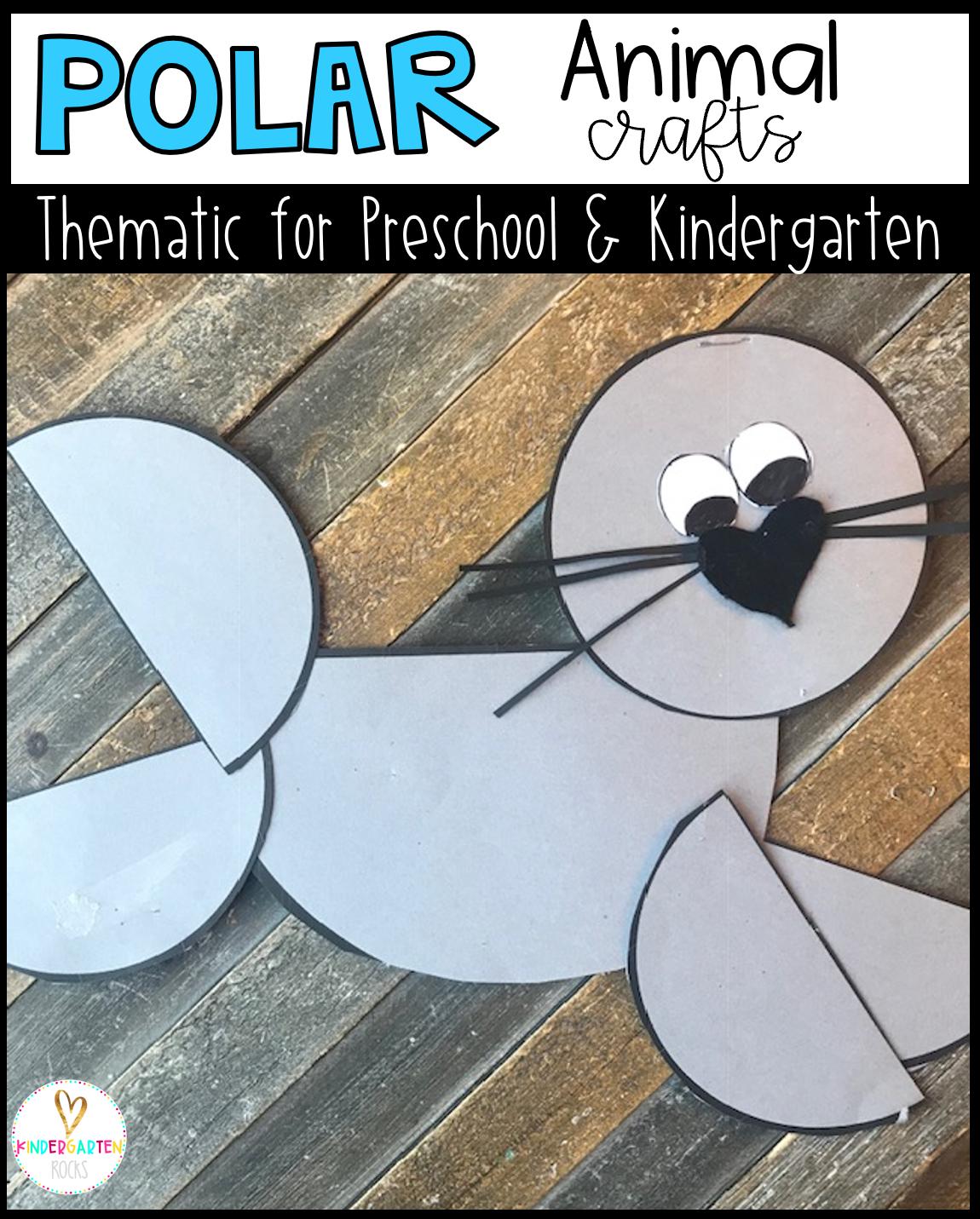 Polar Animal Crafts For Kids Preschool And Kindergarten In
