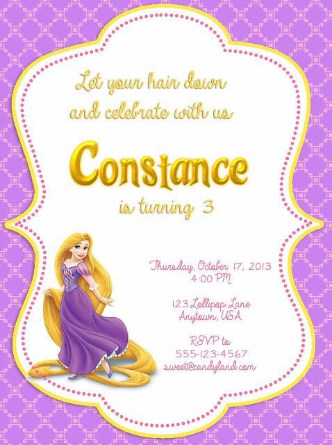 Disney Tangled Printable Invitation