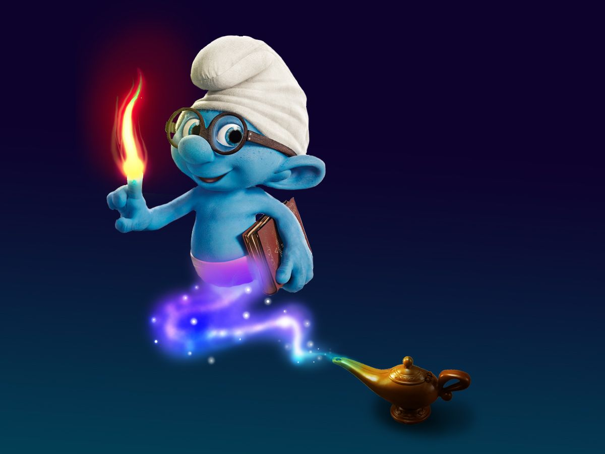 Smurf genie lamp color pinterest genie lamp an easy photoshop tutorial on how to make a cute smurf wallpaper this beginner photoshop tutorial is inspired by the movie smurf baditri Choice Image