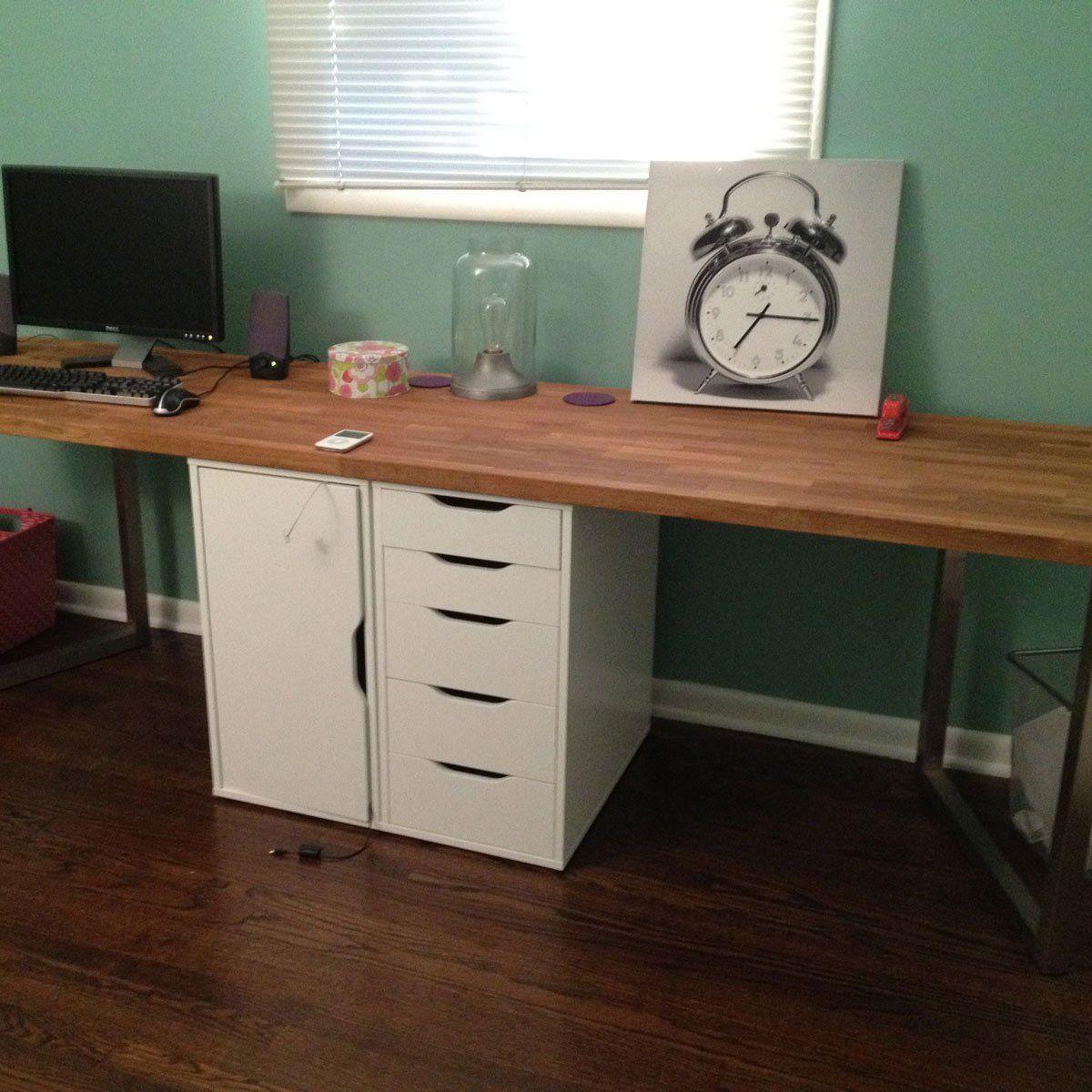 12 Incredible Ikea Hacks Diy Computer Desk Ikea Office Desk