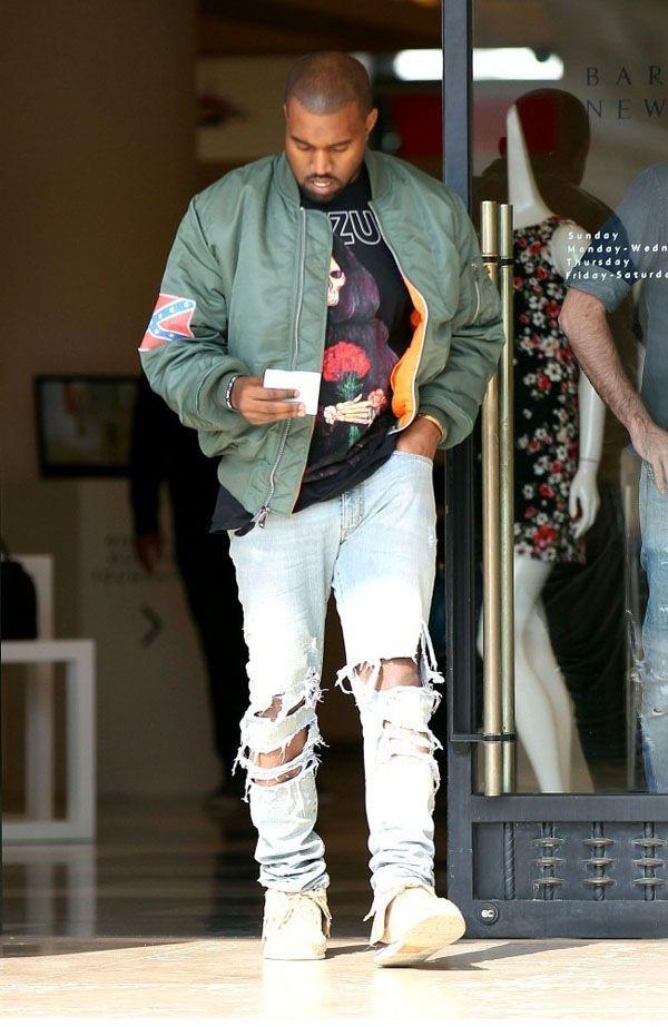 Kanye West Bomber Jacket Men Jackets Men Fashion Bomber Jacket Outfit