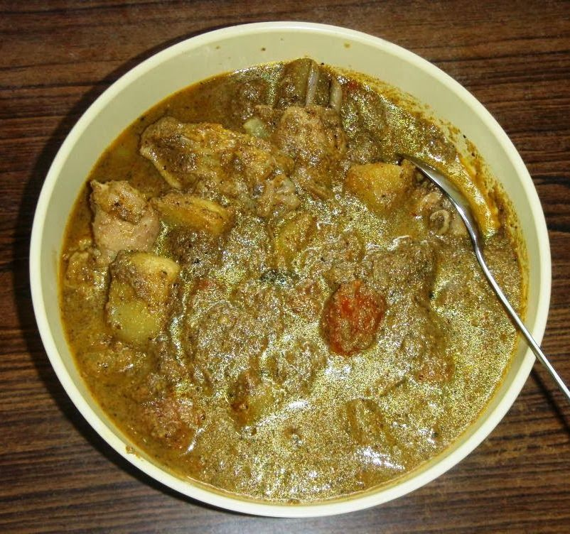 Goan green chicken xacuti recipe