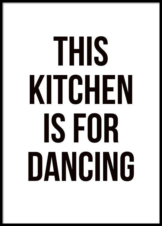 keuken #posters #blackandwhite | keukens | Pinterest | Typografie ...