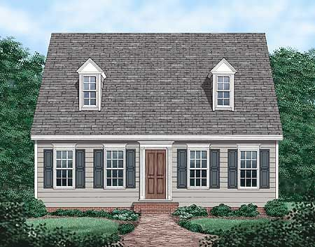 classic cape code floor plan inexpensive to build small