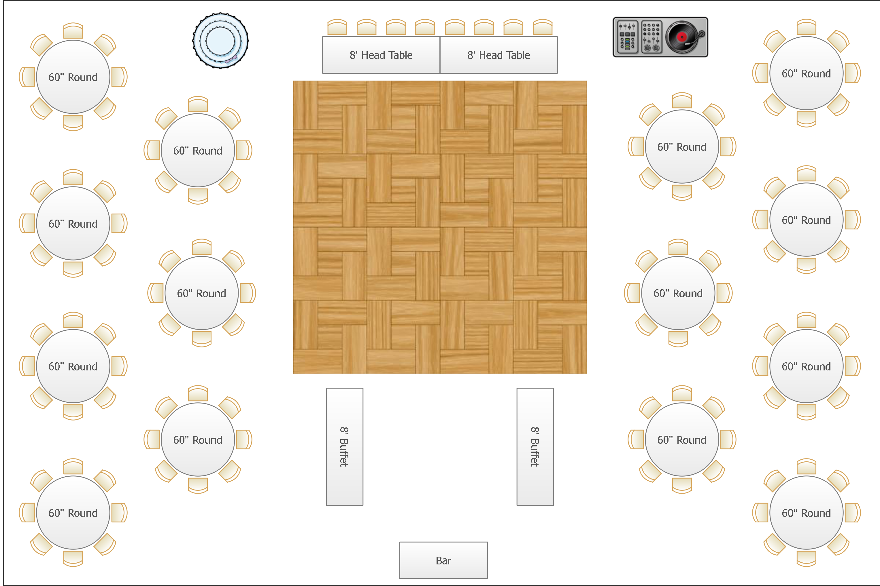 Banquet floor plan software meze blog for Table layout design