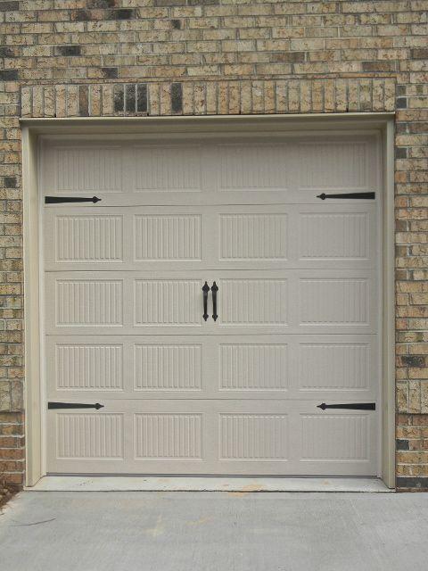 Overhead Door Carriage Style Single 8 Garage Door With Black