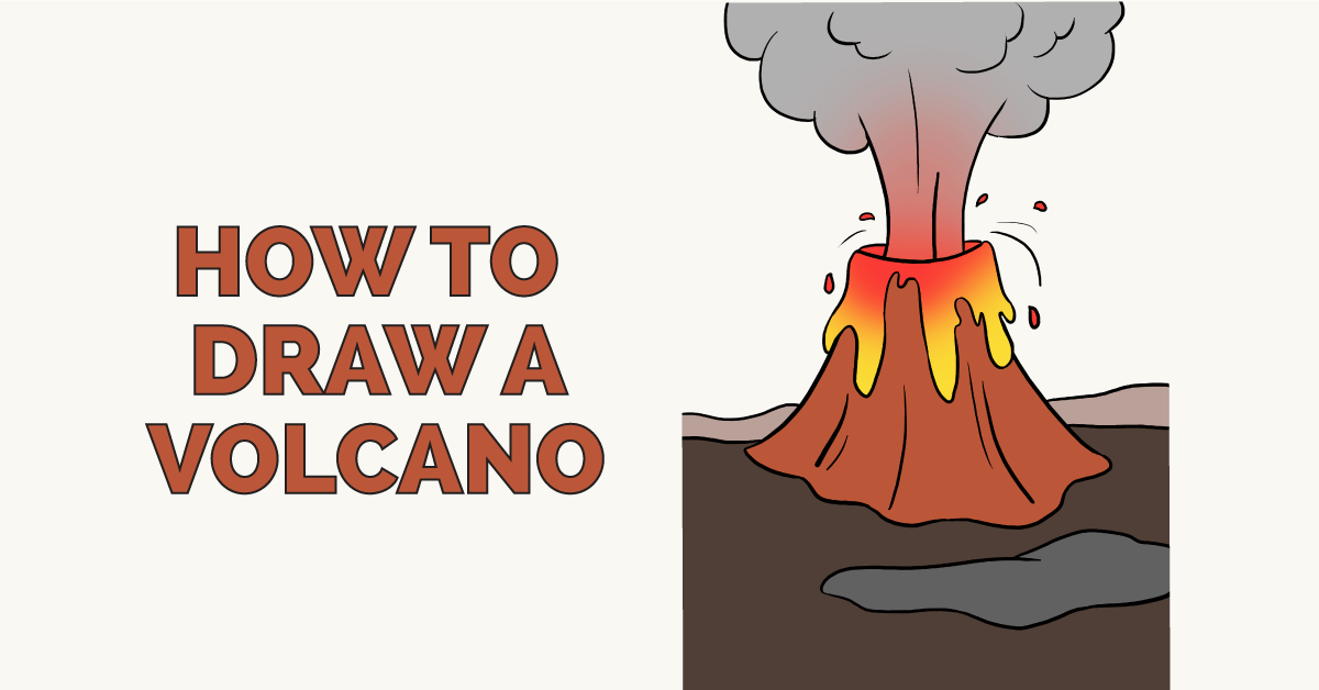 How To Draw A Volcano Really Easy Drawing Tutorial Easy Drawings Drawing Tutorial Easy Drawing Tutorial