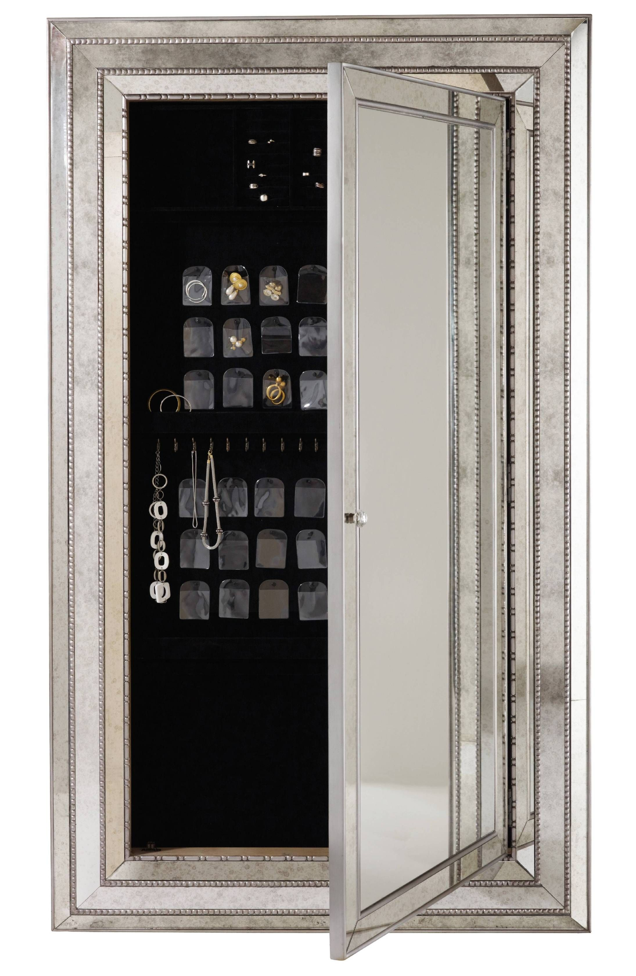 hooker furniture accents melange glamour floor mirror wjewelry armoire storage