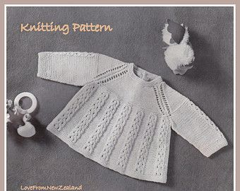 e7a7f6756a72 PDF Knitting Pattern   Baby Angel Top   Vintage Knitting Pattern ...