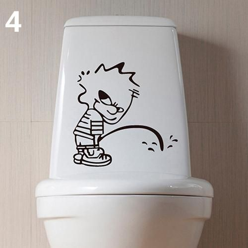 Photo of Cartoon Pattern Toilet Sticker Cute Home DIY Decoration Wall Decal Bathroom Stickers – as the picture j