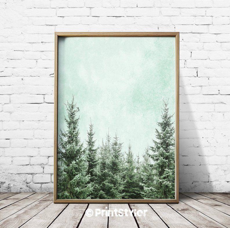 Wall Art Poster Forest Print Forest Wall Art Forest Art