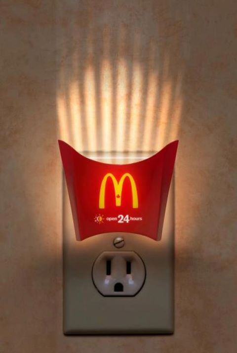 While from a design stand point this is kinda cool, I'm not a fan of ingraining fast food into children right from the cradle. lol