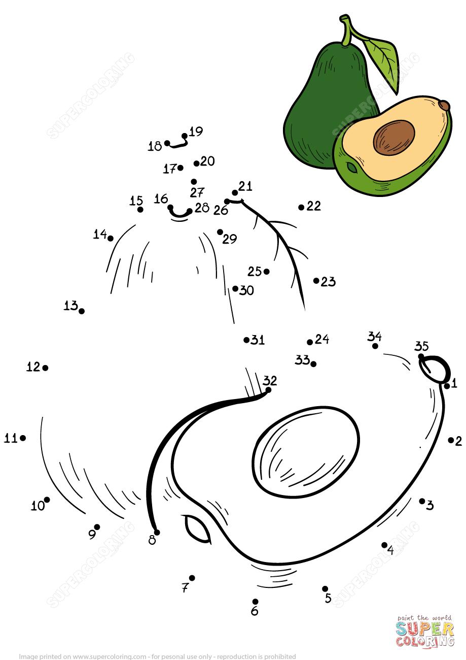 Avocado Super Coloring Fruits et légumes