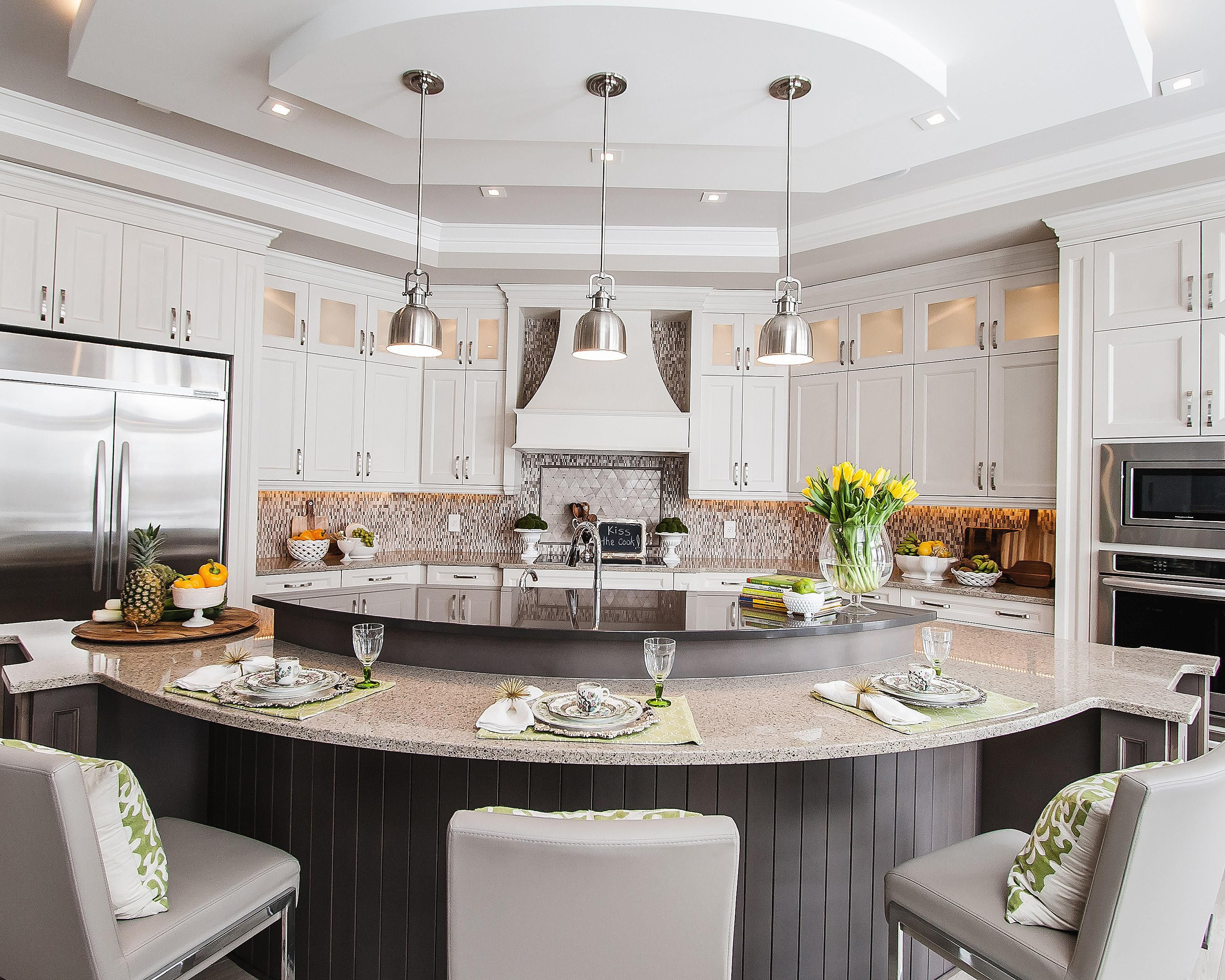 Inspirational Houzz Kitchen Pendant Lighting Luxury Kitchen Design Custom Kitchen Island Curved Kitchen