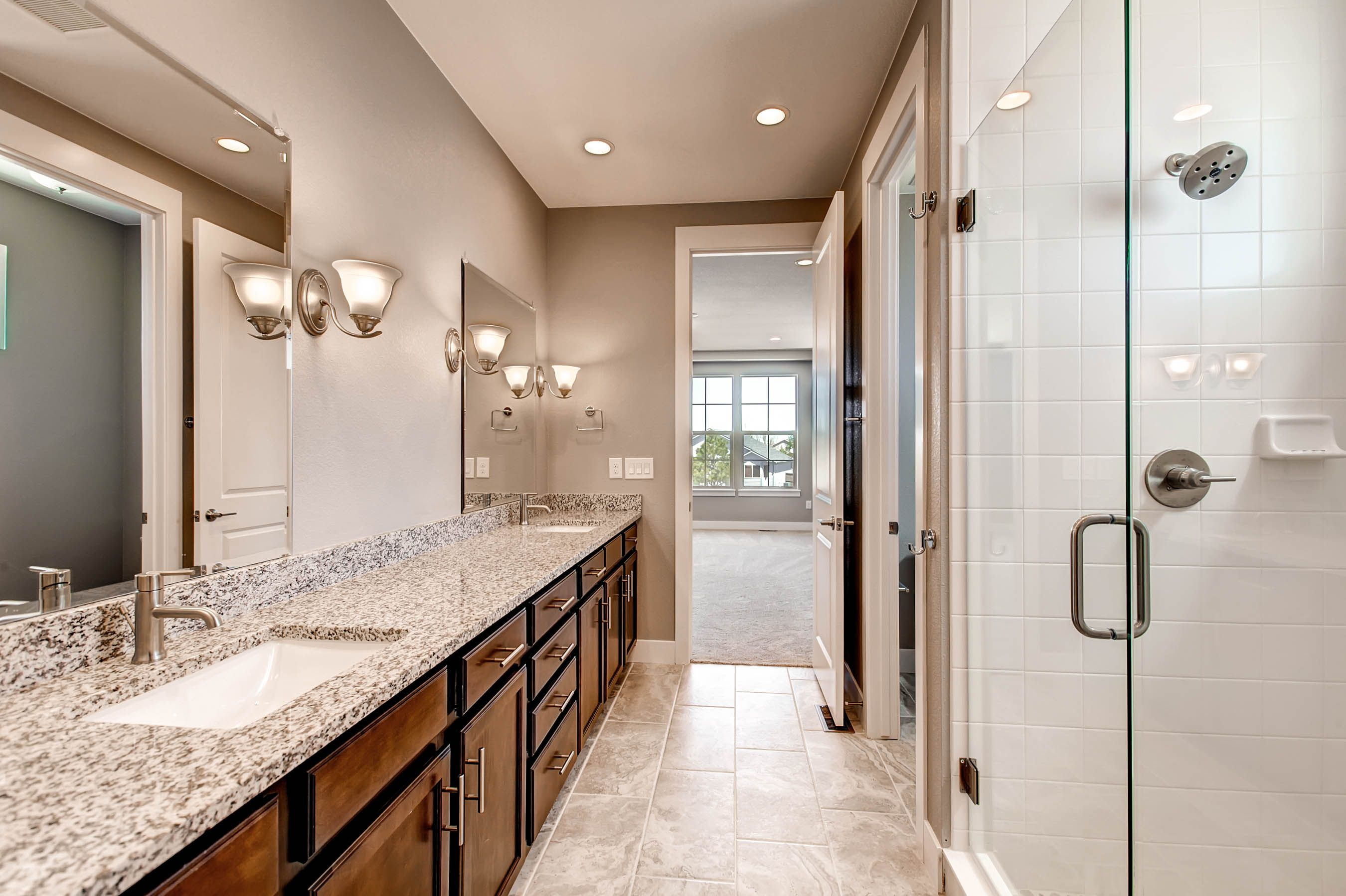 the everlyadamo homes. master bathroom, double undercounted