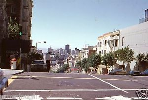 35mm-Slide-San-Francisco-Street-Scene-Mustang-Cars-Original-Color-1978