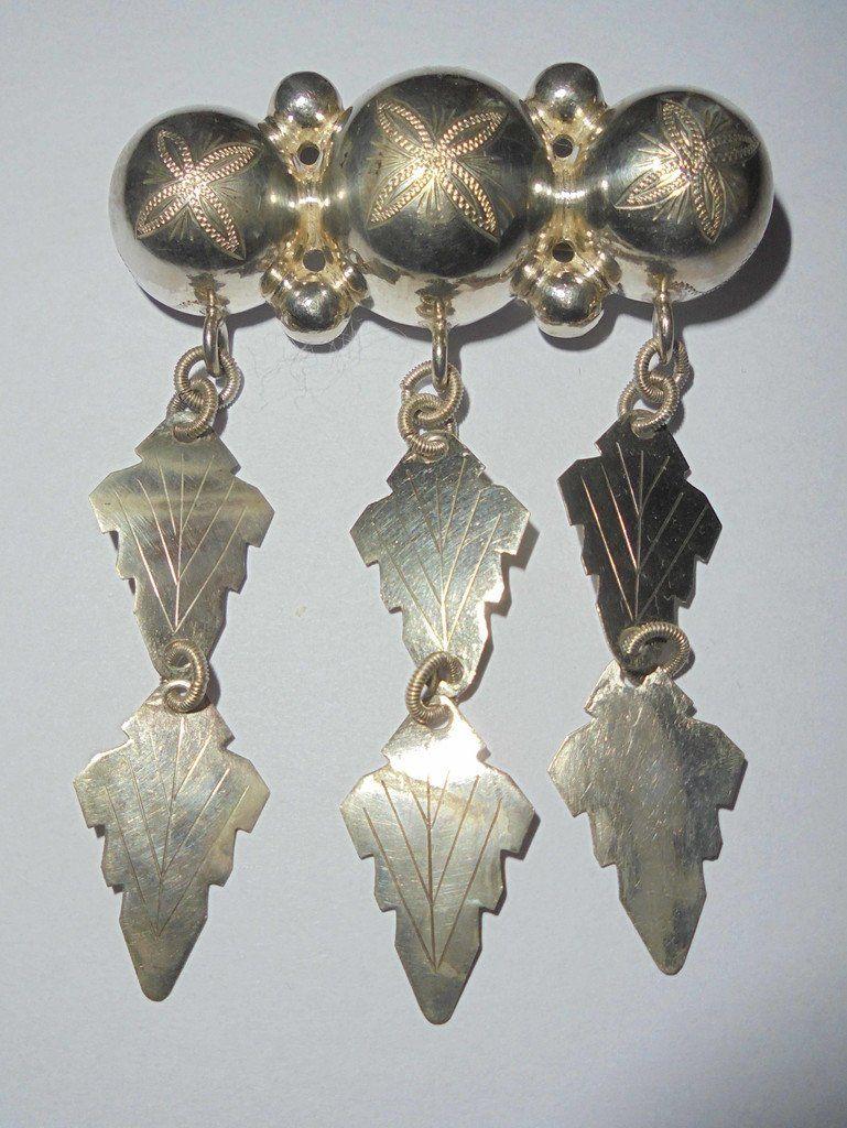 4663de90bf7 brosch i silver, antik dräktbrosch (349771866) ᐈ Köp på Tradera