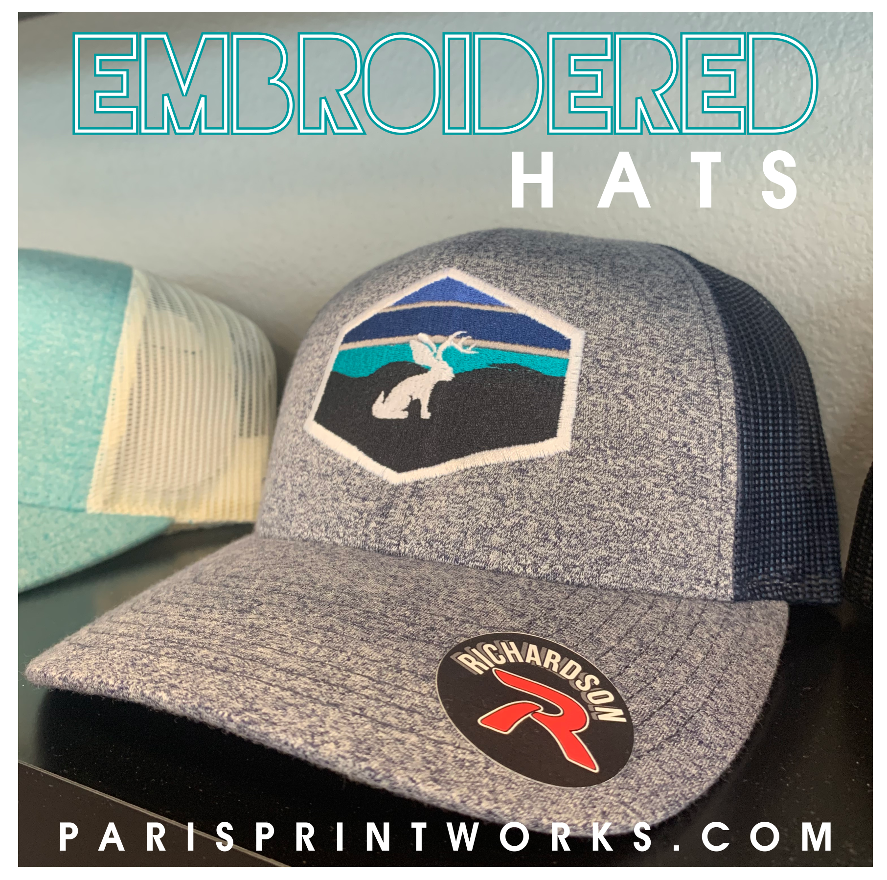 Embroidered Hats Are Perfect For Any Occasion We Have Endless Customization Options At Print Works Visit Our Website Embroidered Hats Embroidered Tshirt Hats
