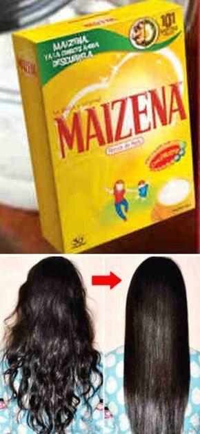 Como reparar y alisar el cabello naturalmente con crema de maizena #pelo #cabello #mascarilla