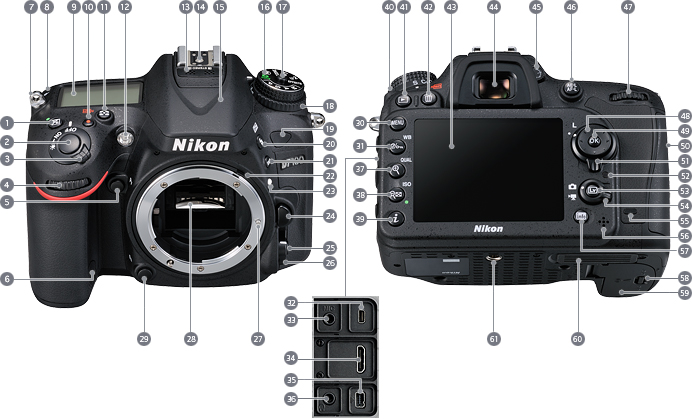 Admirable Nikon Imaging Products Parts And Controls Nikon D7100 Work Wiring Digital Resources Funapmognl