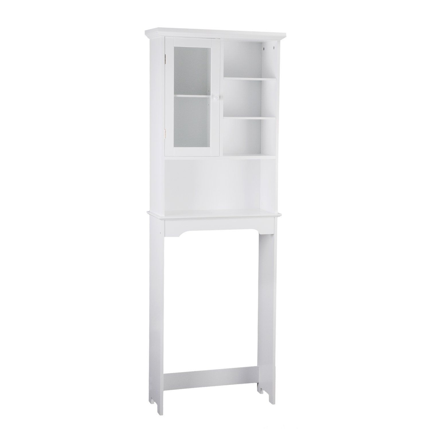 asense high white bathroom over toilet storage shelves cabinet simple living this pretty and fashion bathroom space saving cabinet fit over the toilet bowl
