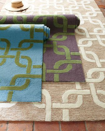Horchow Modern Links Outdoor Rug Turquoise Purple Green Beige Neutral Via Room Fu Knockout Interiors