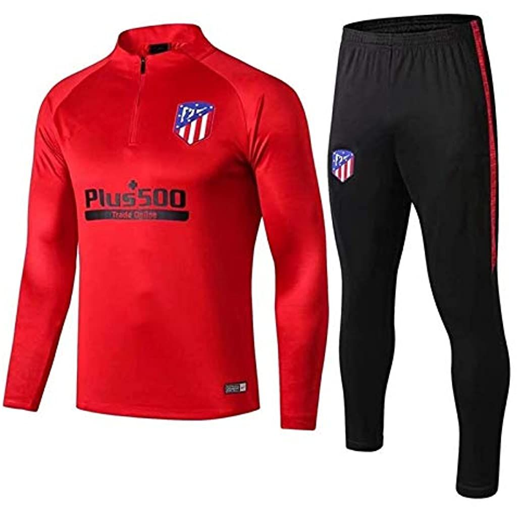Atlětico Mǎdrid 2021 Conjunto de pantal/ón de entrenamiento de f/útbol manga larga