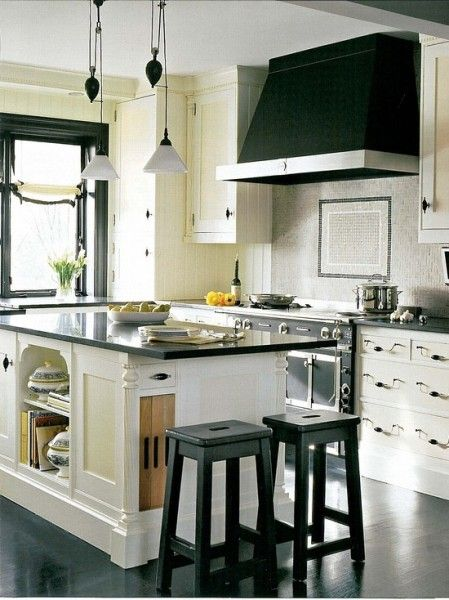 Black Hood With White Kitchen. Contemporary Kitchen By Dalia Kitchen Design