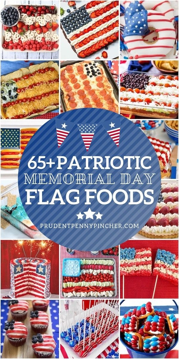 65 Patriotic Flag Memorial Day Food Ideas -   11 holiday Food potluck ideas