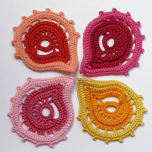 Motiv häkeln - crochet motif... Mehr wunderschöne Motive gibt es auf ...