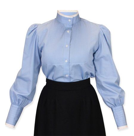 Muriel Pleated Blouse Blue Blouses For Women Girls Blouse Blouse