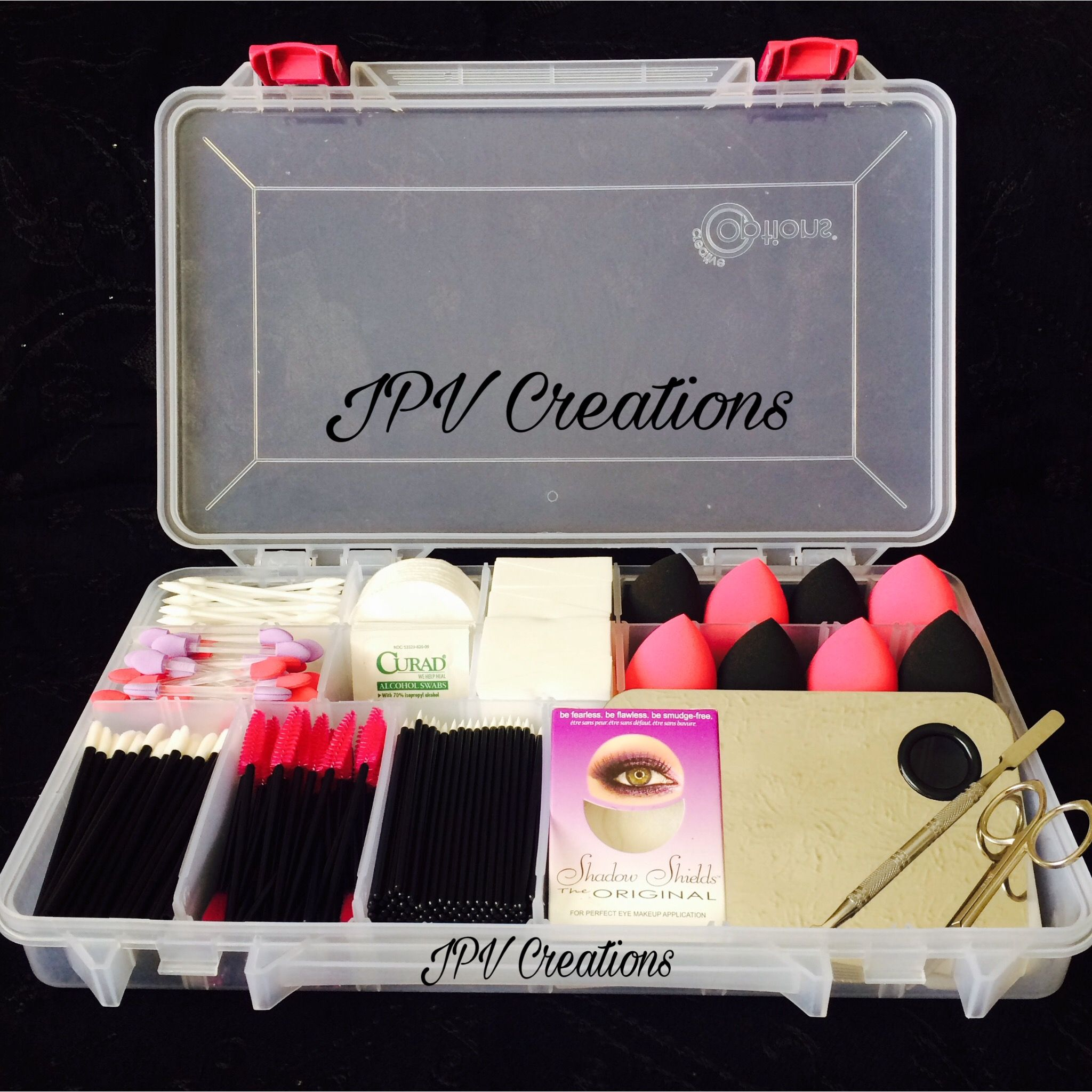 Disposable Makeup Applicators Kit Organized By Pv