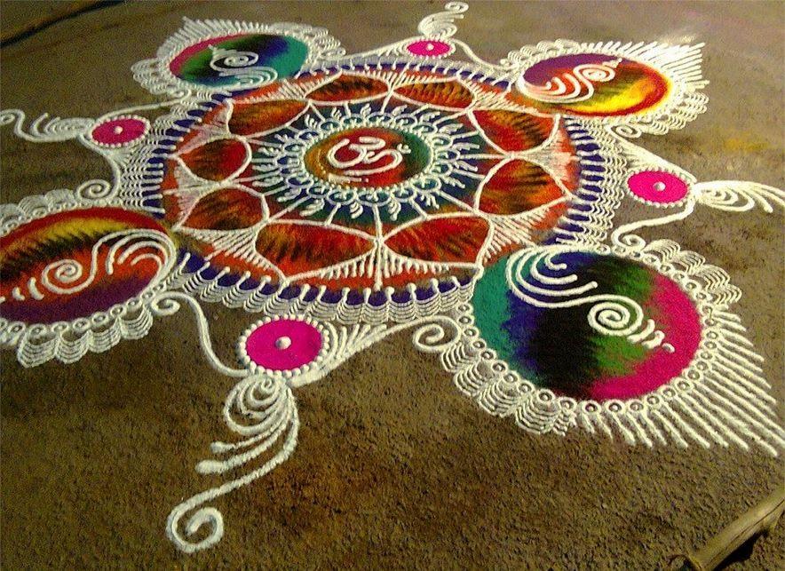 Gudi Padwa Rangoli Design || Sanskar Bharti Rangoli Design ...