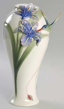 Franz Collection Long Tail Hummingbird Vase Franz Porcelain