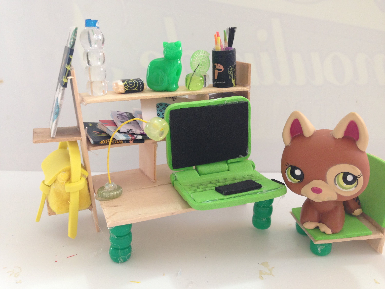 How To Make Lps Computer Desk Amp Accessories Littliest