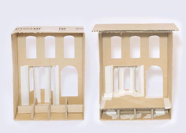 Una increíble casa de muñecas con una caja - Guía de MANUALIDADES
